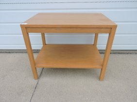Dunbar oak mid century modern lamp table be Edward