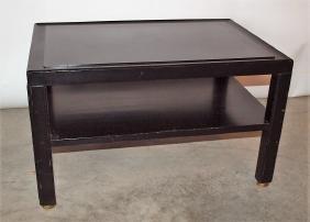 Dunbar black mid century modern lamp table by Edward