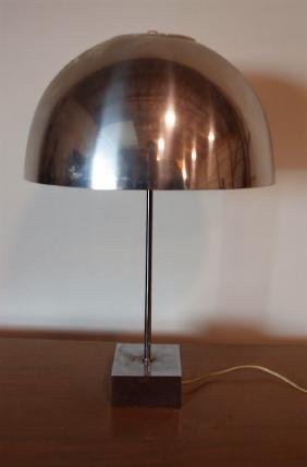 Paul Mayen chrome mid century modern table lamp