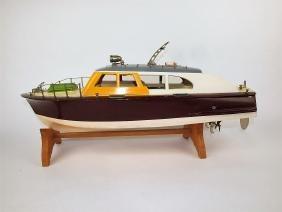 Japan ITO wooden model cabin cruiser speed boat,
