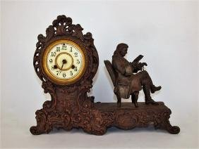 Waterbury figural mantle clock