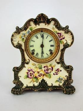 """Ansonia wichita china clock, 12"""""""