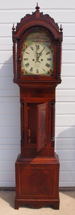 English rosewood tall case grandfather clock,