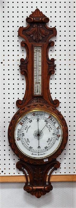 "English oak barometer, 40"""
