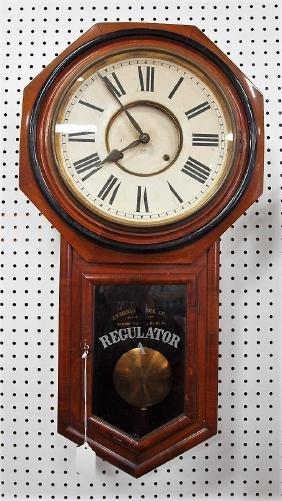 "Ansonia regulator ""A"" wall clock, 32"""