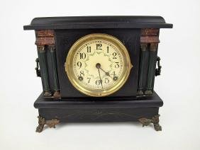 Sessions black mantle clock with columns