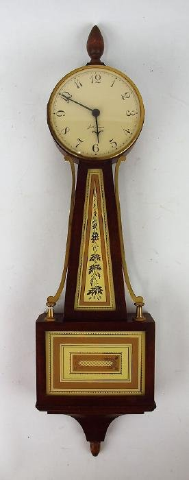 Seth Thomas banjo clock, 24""