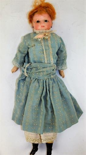 Sweet wax over head doll, circa 1890 composition and
