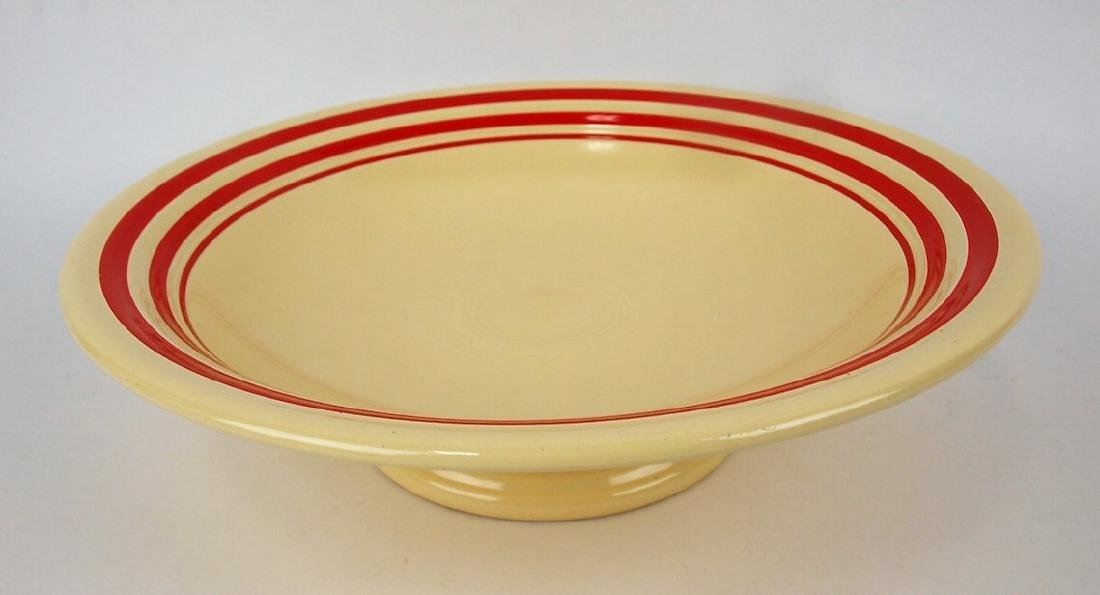 "Fiesta 12"" comport RARE ivory with red stripe,"