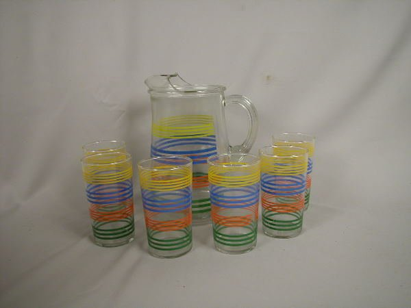 12: Fiesta Go Along Water Pitcher & Tumblers