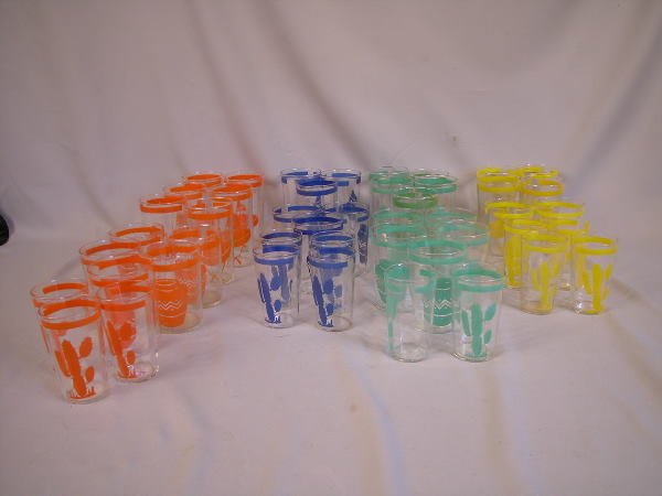 13A: Fiesta Mexicana Glass Tumblers Group