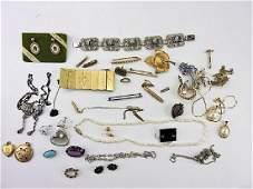 Lot of jewelry garnets rubies pearls amethyst