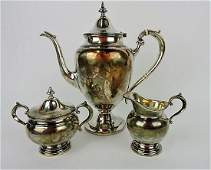 Gorham sterling silver 3 pc tea set 32oz