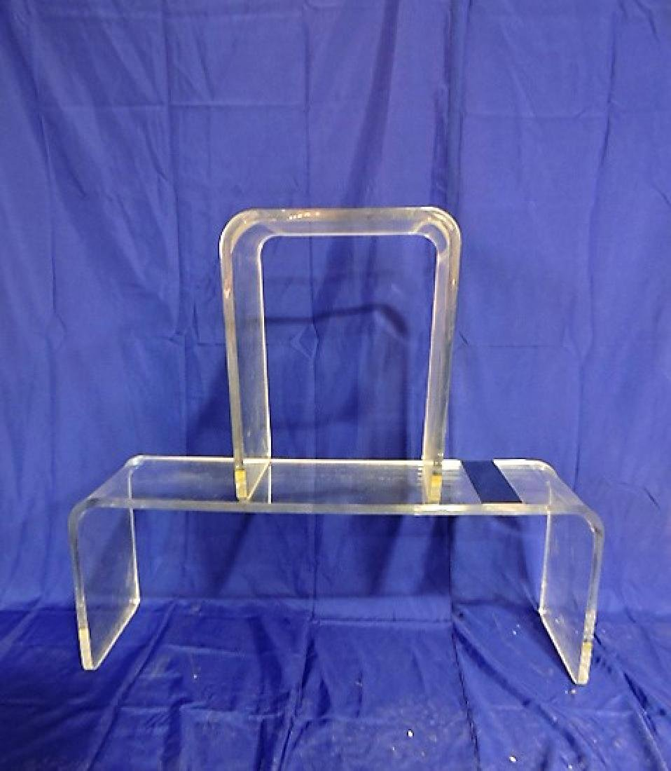 Mid Century Modern lucite stacking table group - coffee
