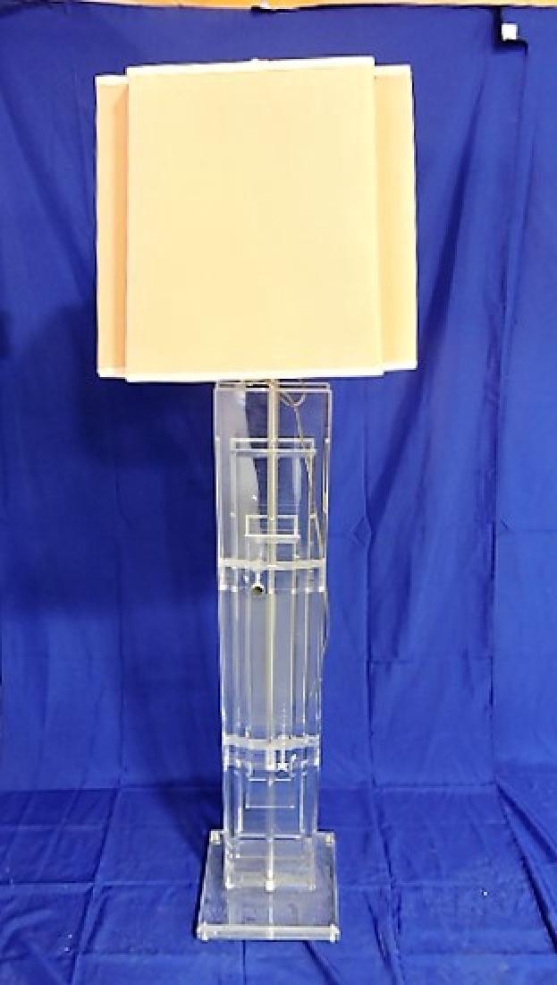 "Mid Century Modern lucite floor lamp 65"",  Verano"
