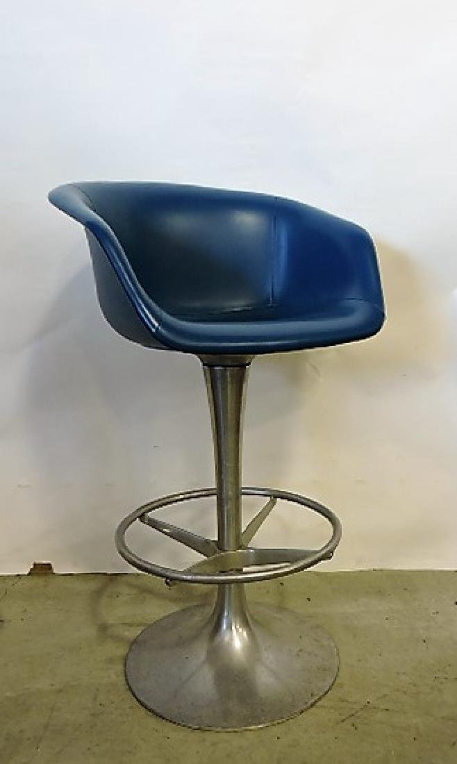 Mid Century Modern set of 3 aluminum bar stools