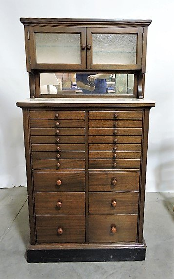 The Harvard Co. Canton OH dental/barber cabinet with