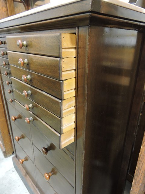 The Harvard Co. Canton OH dental/barber cabinet with - 3