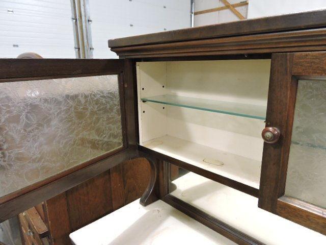 The Harvard Co. Canton OH dental/barber cabinet with - 4