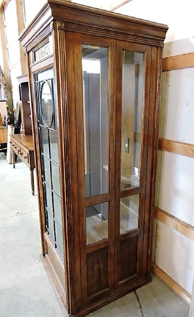 "English oak telephone booth, 80""h, 34""w - 4"
