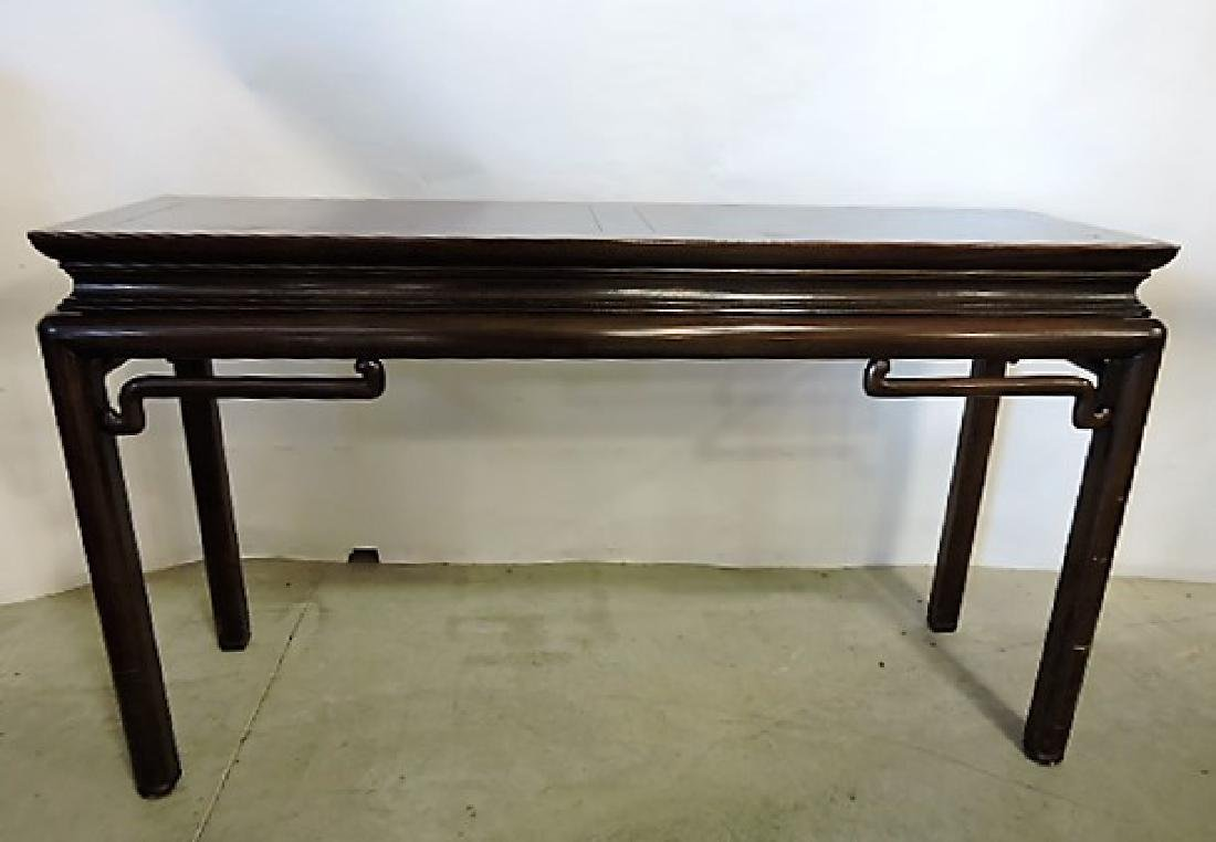 """Baker Furniture Oriental style sofa table 4'6"""", 31""""h,"""