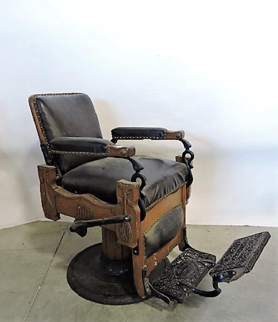 Kuken early oak barber chair - 3