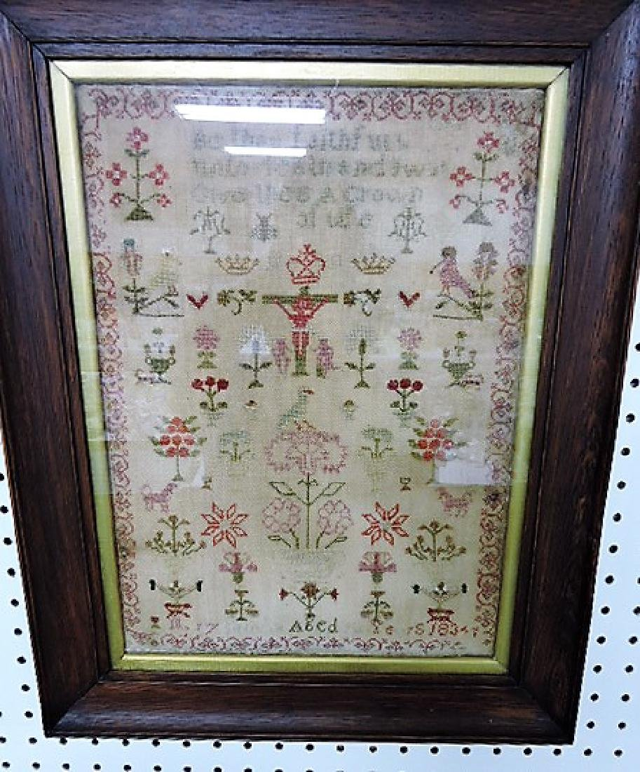"""Early sampler dated 1834, 11"""" x 15"""""""