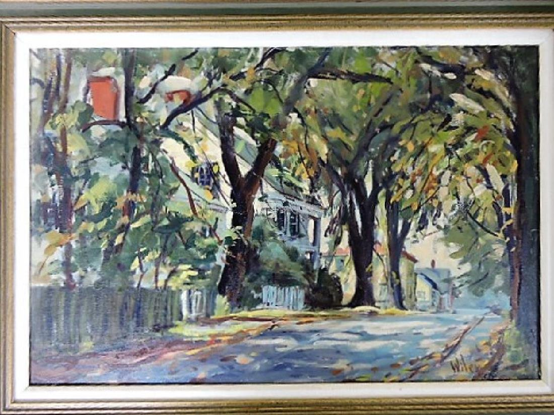 "Fred E. Wiley oil on canvas ""Kennebunkport ME"" 1970,"