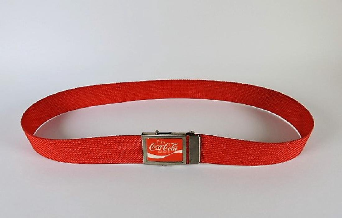 Coca Cola belt, red with Coca Cola buckle