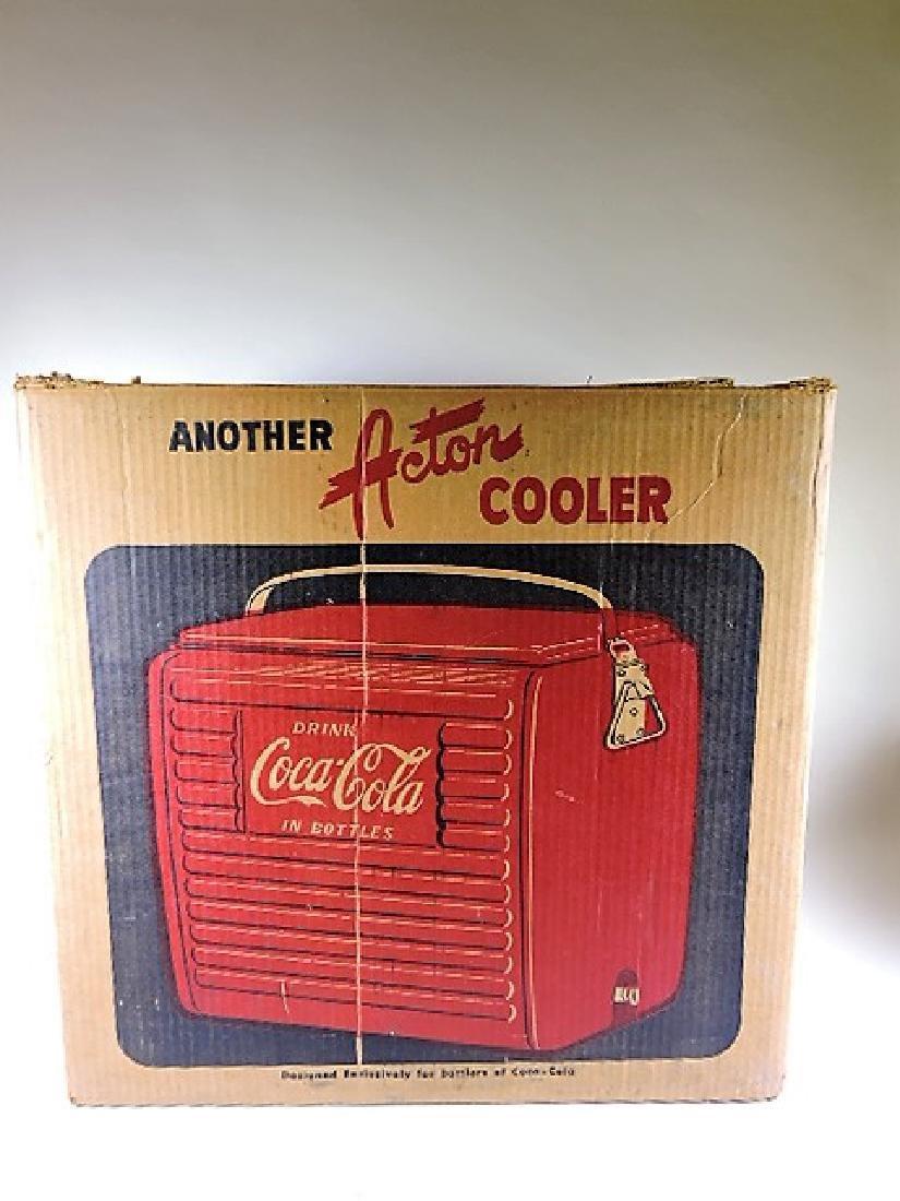 Coca Cola Acton  cooler with original box, some wear to