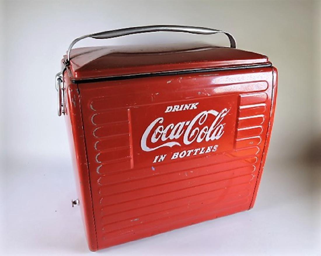 Coca Cola Acton  cooler with original box, some wear to - 2
