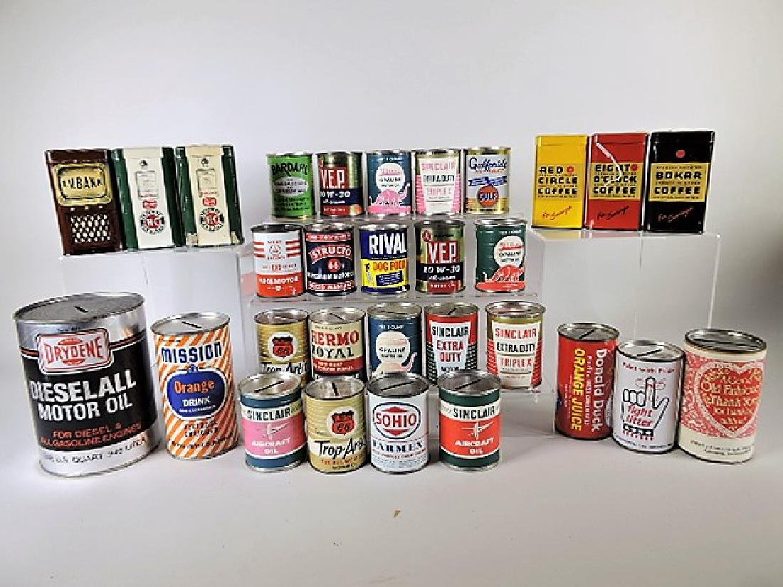 Lot of 30 advertising  banks - Sinclair, Phillips 66,