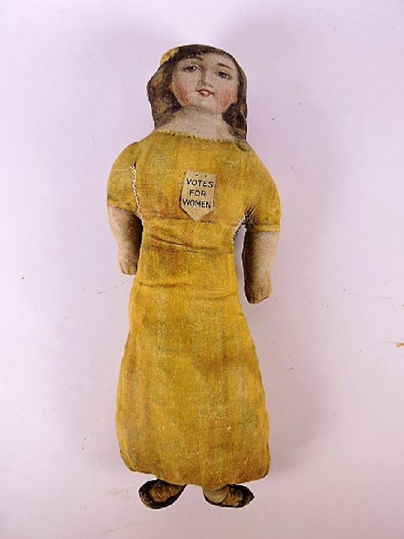 """Votes for Women cloth doll 15 1/2"""""""