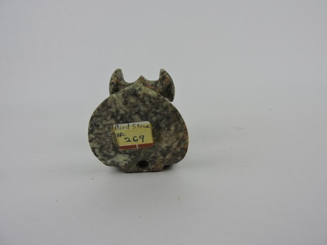 "Indian artifact birdstone replica, 5"" - 4"