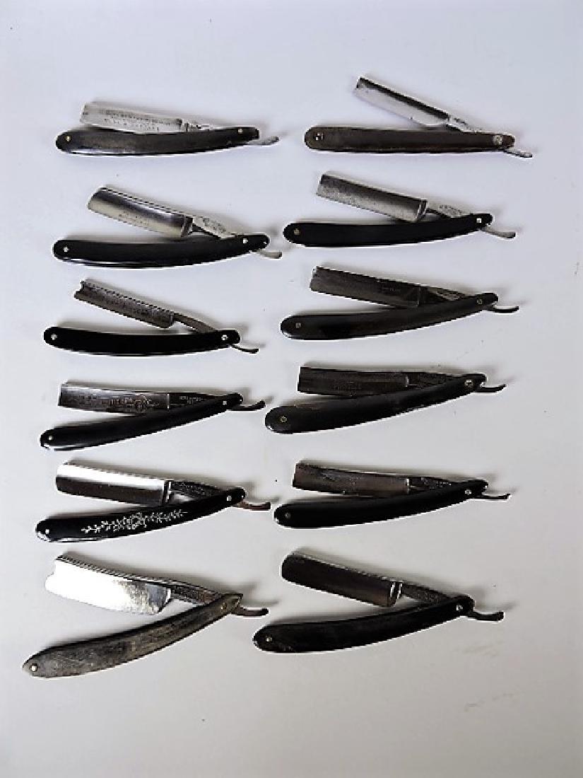 Straight razor lot of 12