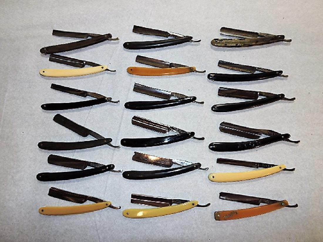 Straight razor lot of 18, all German