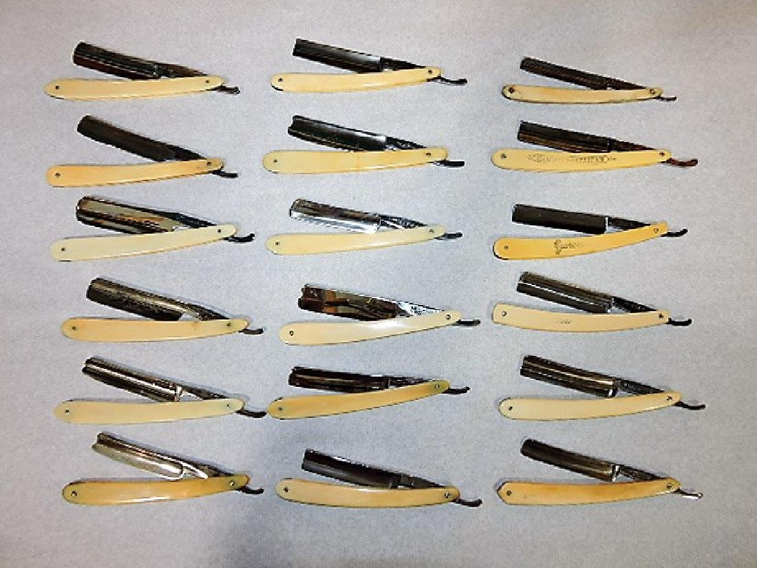 Straight razor lot of 18
