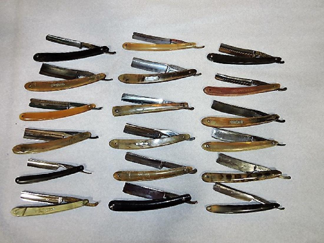Straight razor lot of 18