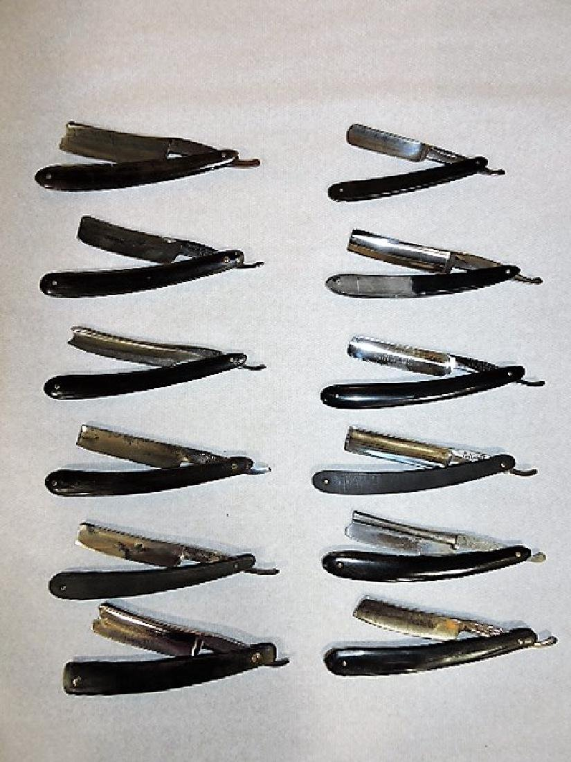 Straight razor lot of 12