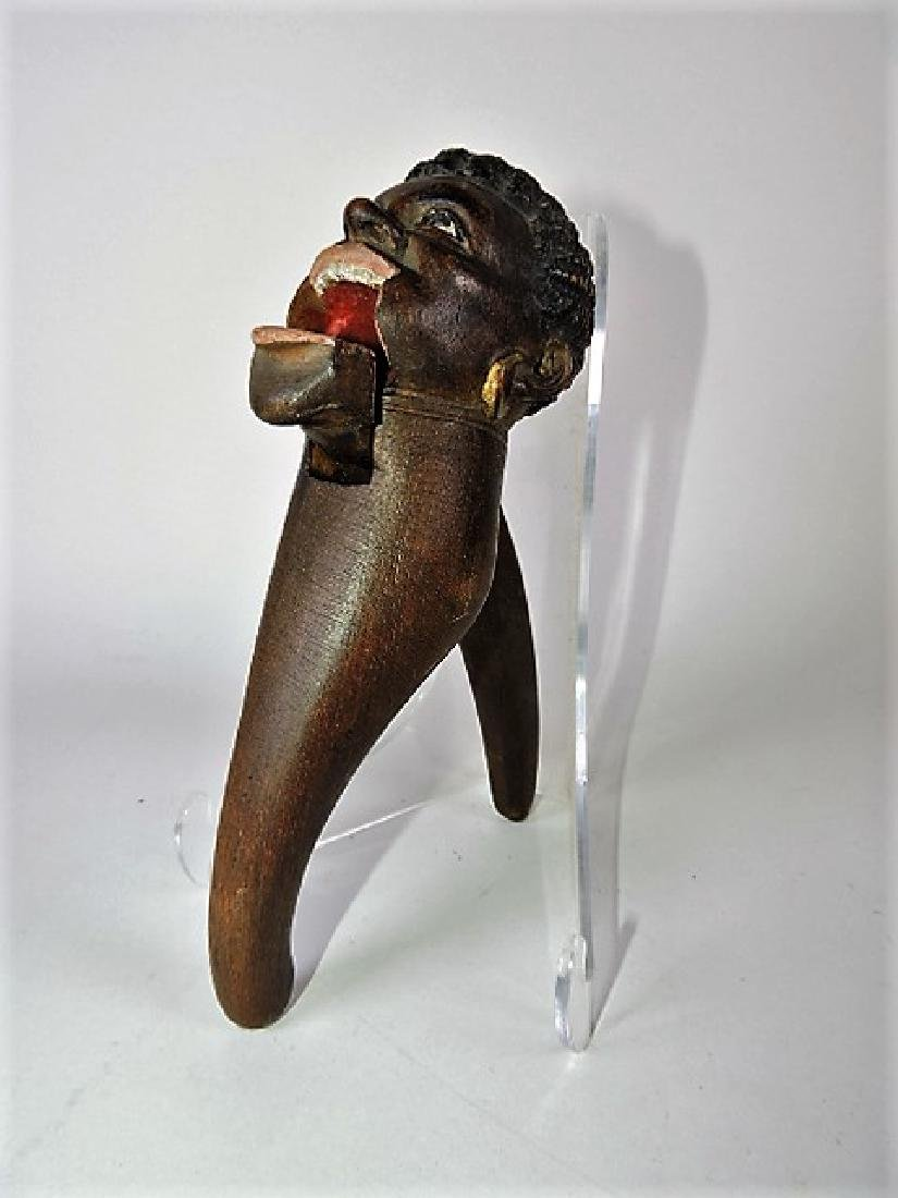Wood carved blackamoor nutcracker 8 1/2""