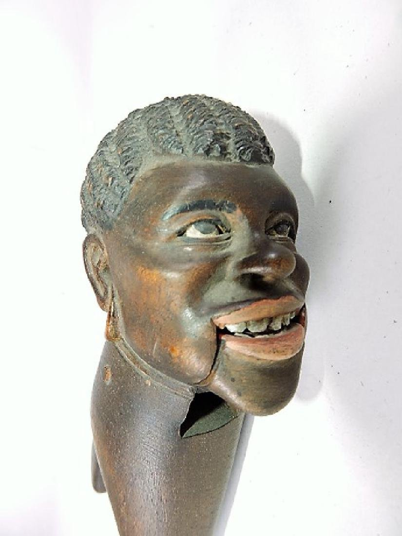 "Wood carved blackamoor nutcracker 8 1/2"" - 2"