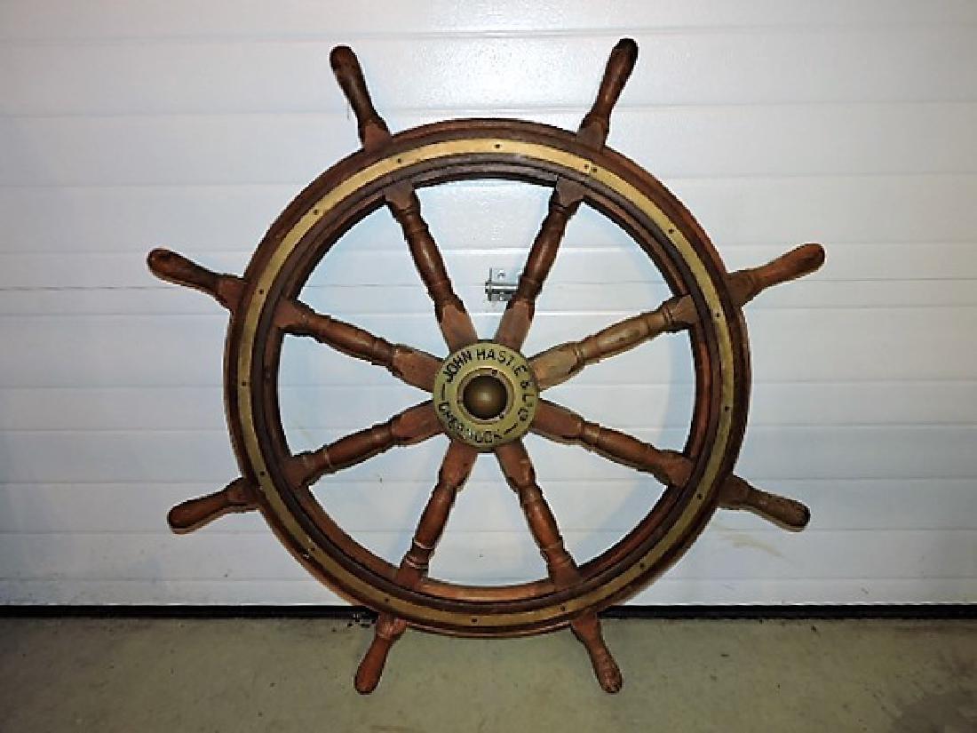 Great Lakes Schooner ships wheel circa 1860, John