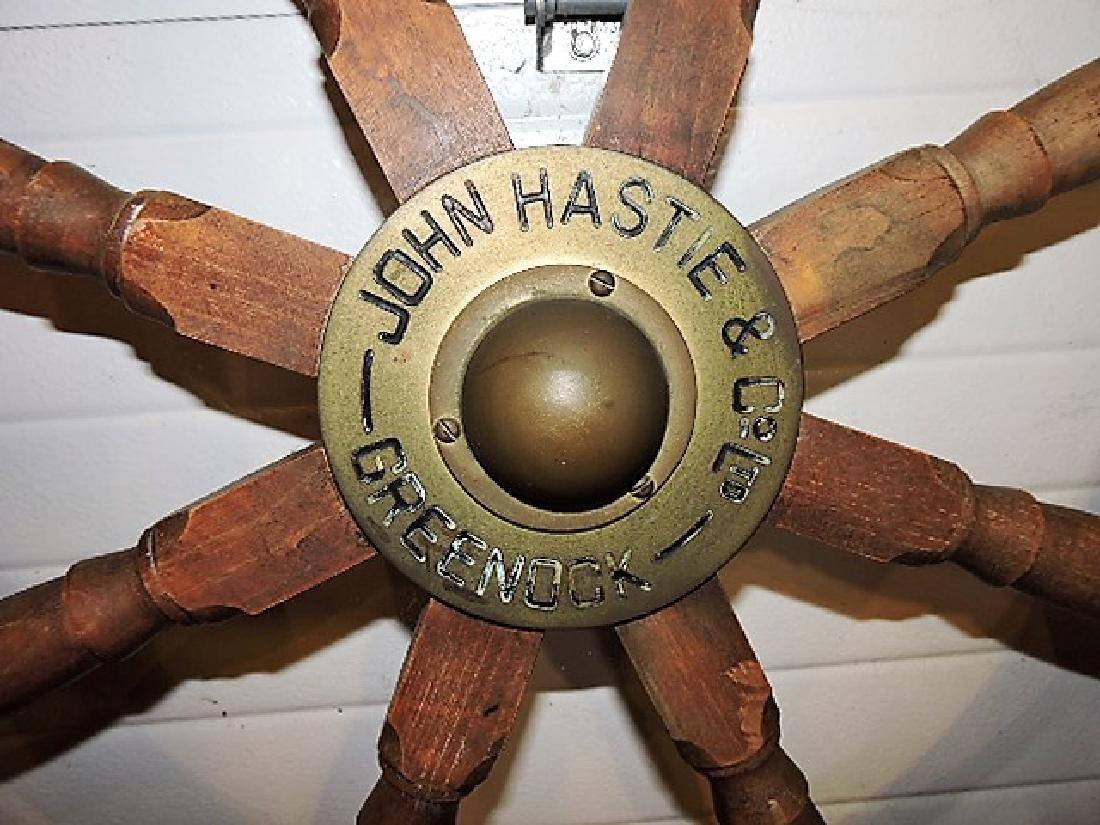 Great Lakes Schooner ships wheel circa 1860, John - 2