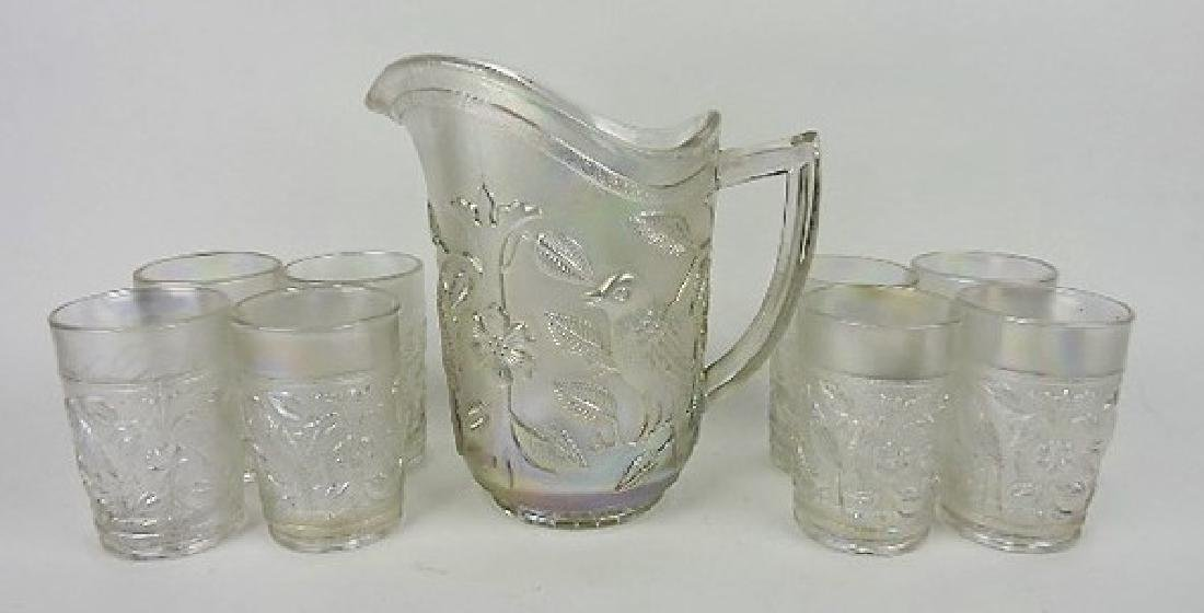Imperial white carnival Robin 9 pc water set