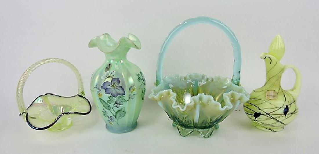 Fenton glass lot of 4 pcs