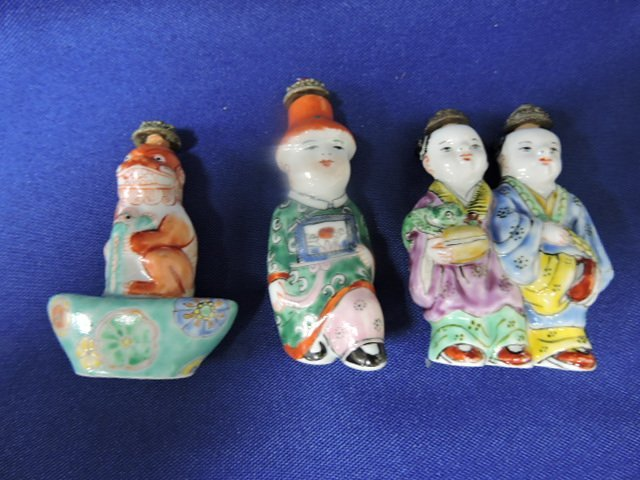 Chinese lot of 10 ceramic snuff bottles - 3