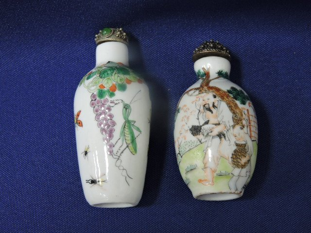 Chinese lot of 10 ceramic snuff bottles - 6