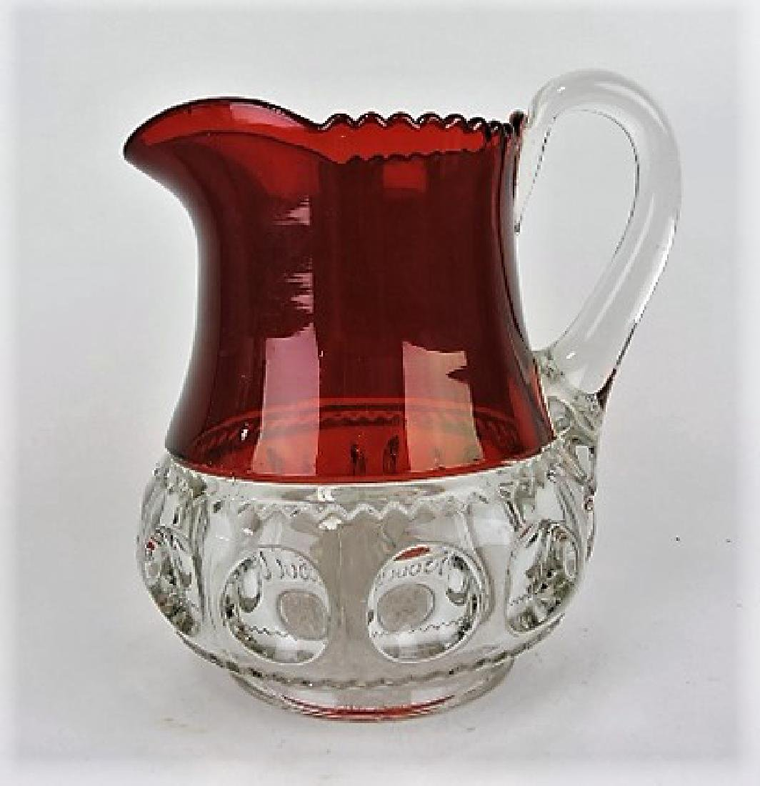 Ruby flash kings crown water pitcher 8 1/2""
