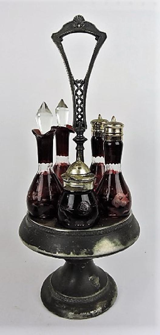 Ruby flash cut to clear 5 bottle castor set
