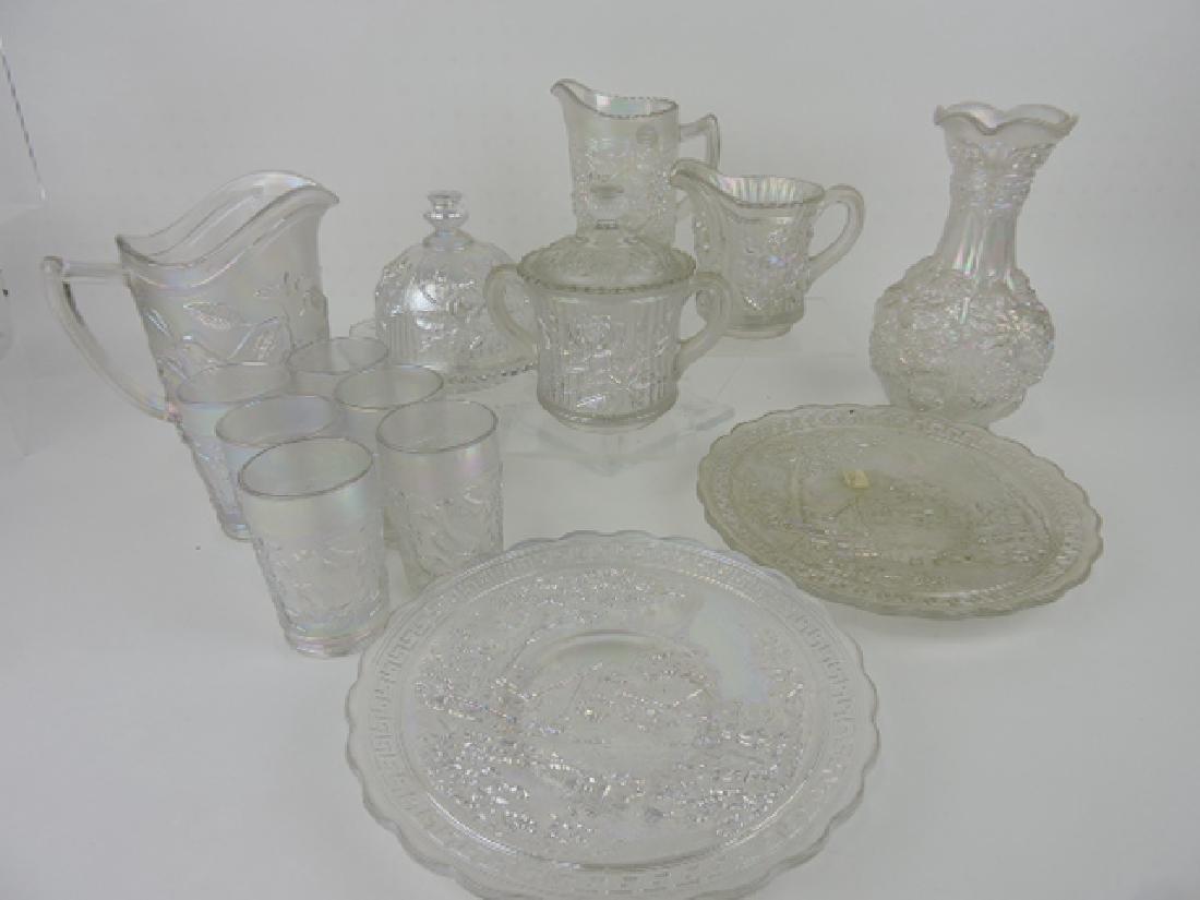 Imperial glass white carnival lot of 14 pieces